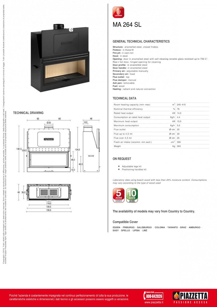 Pagina 1 - Focar  Piazzetta MA 264 SL Fisa tehnica Engleza MA 264 SL GENERAL TECHNICAL...