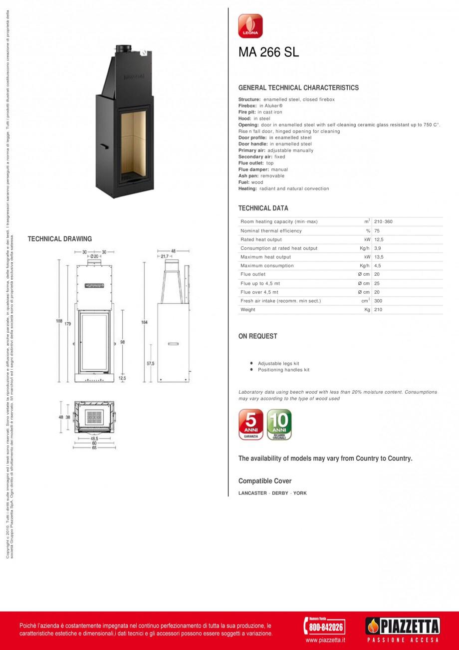 Pagina 1 - Focar Piazzetta MA 266 SL Fisa tehnica Engleza MA 266 SL GENERAL TECHNICAL...