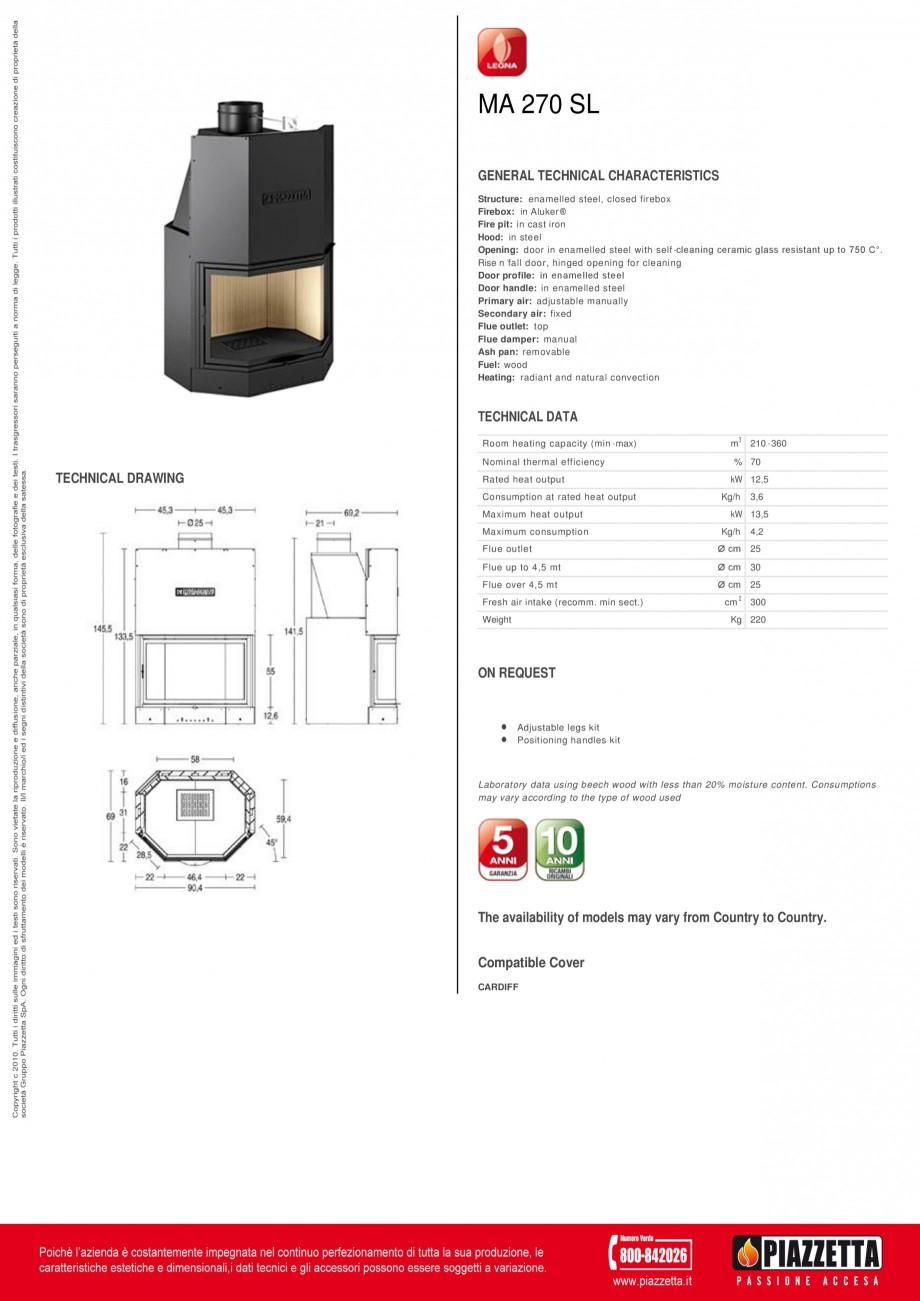 Pagina 1 - Focar  Piazzetta MA 270 SL Fisa tehnica Engleza MA 270 SL GENERAL TECHNICAL...