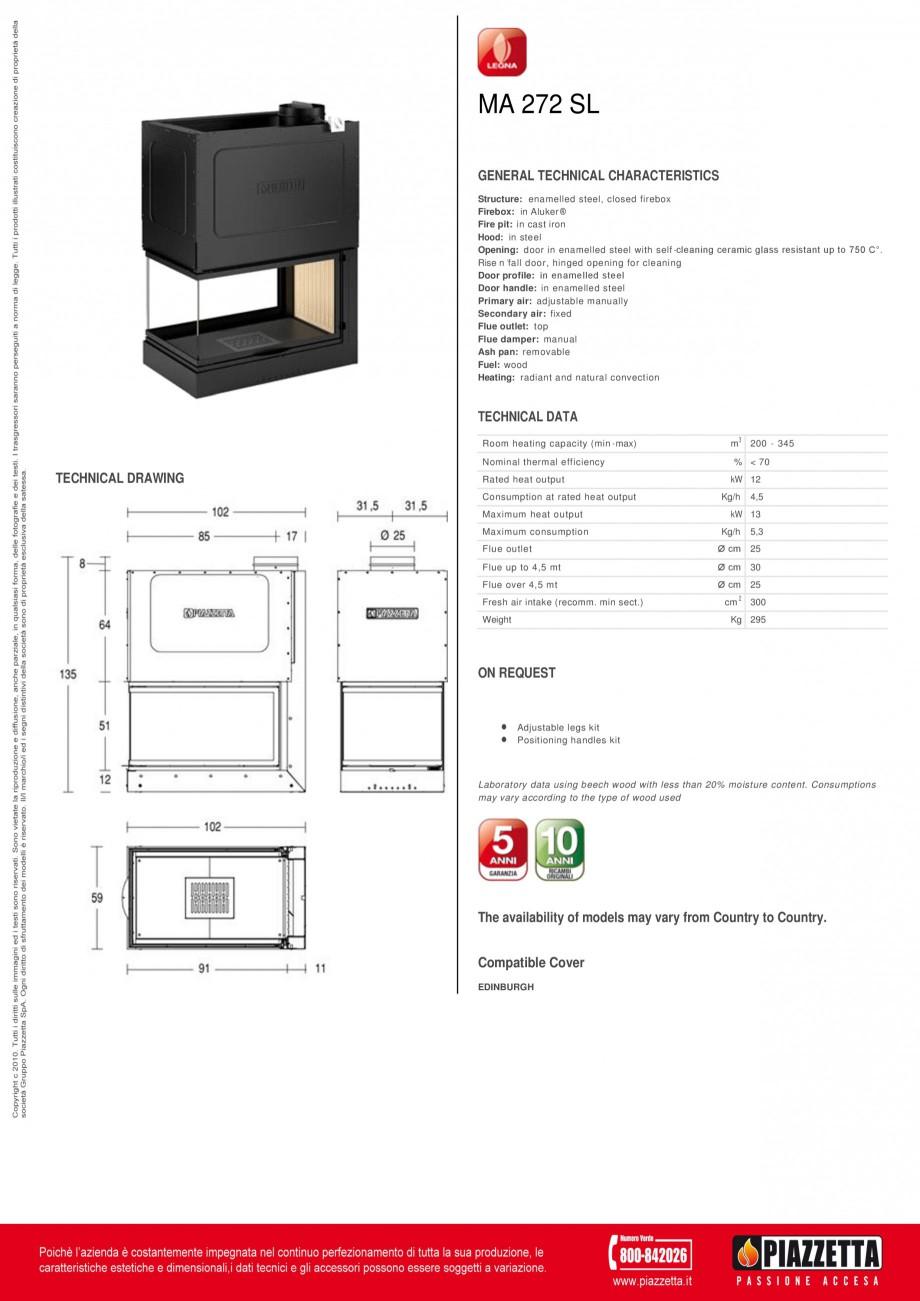Pagina 1 - Focar  Piazzetta MA 272 SL Fisa tehnica Engleza MA 272 SL GENERAL TECHNICAL...