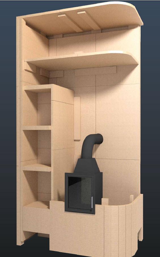Model de constructie a imbracamintii unui semineu folosind placile Grenaisol Grena - Poza 6