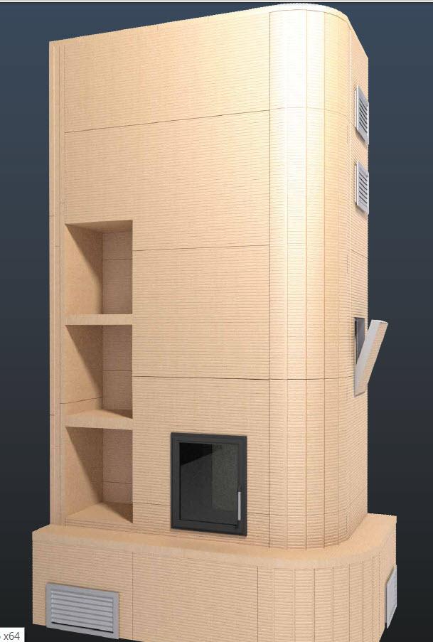 Model de constructie a imbracamintii unui semineu folosind placile Grenaisol Grena - Poza 8