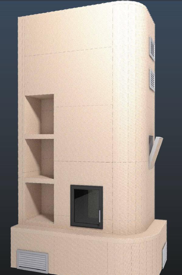 Model de constructie a imbracamintii unui semineu folosind placile Grenaisol Grena - Poza 9