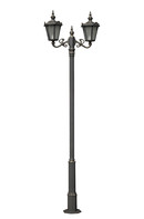 Stalp ornamentali pentru iluminat Napoca 2FS | Stalpi ornamentali pentru iluminat stradal, parcuri, gradini |