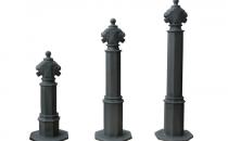 Stalpi ornamentali si aplice de exterior Bramal Light produce stalpi ornamentali de protectie si delimitare, stalpi pietonali pentru indicatoare stradale si aplice ornamentale de exterior din aliaje dure de aluminiu, necorozive.