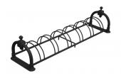 Suporti pentru biciclete Suportul de biciclete oferit de BRAMAL LIGHT este realizat din tevi si bare de otel, cu doi suporti laterali din aliaj metalic turnat, necoroziv.
