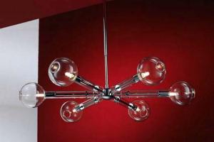 Lustre Selene Iluminazione ofera o gama de lustre pentru interior unice in forma si marime, fabricate din sticla, realizate cu un cristal clar, taiate formate printr-un proces laborios.