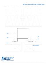 Sistem orizontal de placare fatade - Detaliu sectiune orizontala OSS