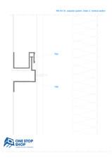 Sistem orizontal de placare fatade - Detaliu sectiune verticala OSS