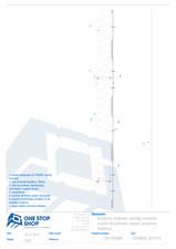 Caseta structurala din tabla de otel - sectiune verticala - montaj orizontal OSS