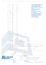 Placari pentru fatade ventilate - detaliu colt exterior la montaj orizontal CS OSS