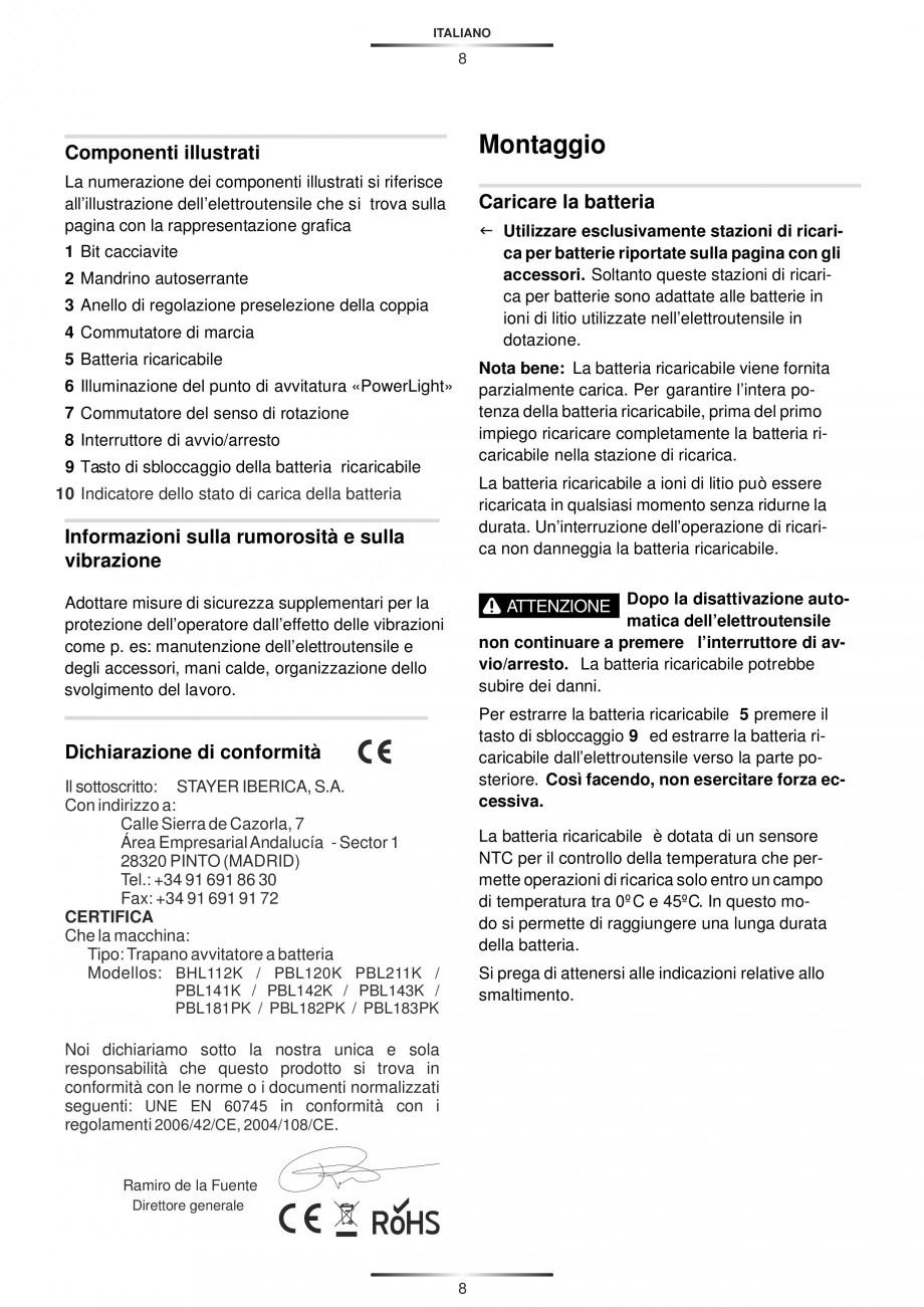 Pagina 11 - Masina de gaurit si insurubat cu acumulator 12 V 1.3 Ah STAYER BHL 112 K Instructiuni...