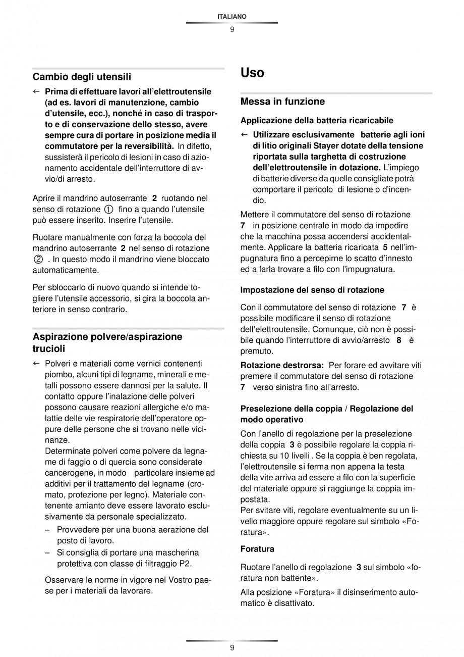 Pagina 12 - Masina de gaurit si insurubat cu acumulator 12 V 1.3 Ah STAYER BHL 112 K Instructiuni...