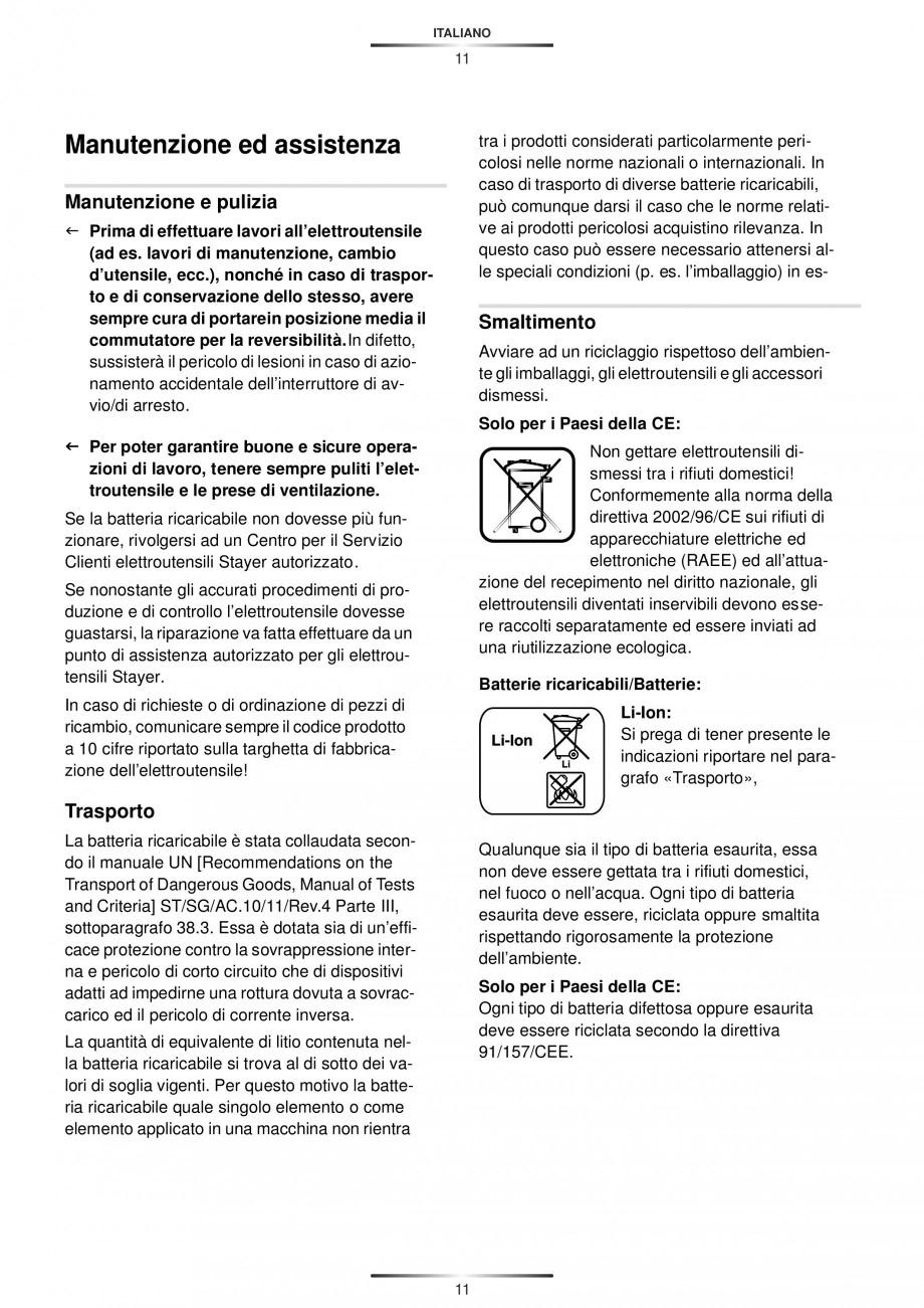 Pagina 14 - Masina de gaurit si insurubat cu acumulator 12 V 1.3 Ah STAYER BHL 112 K Instructiuni...