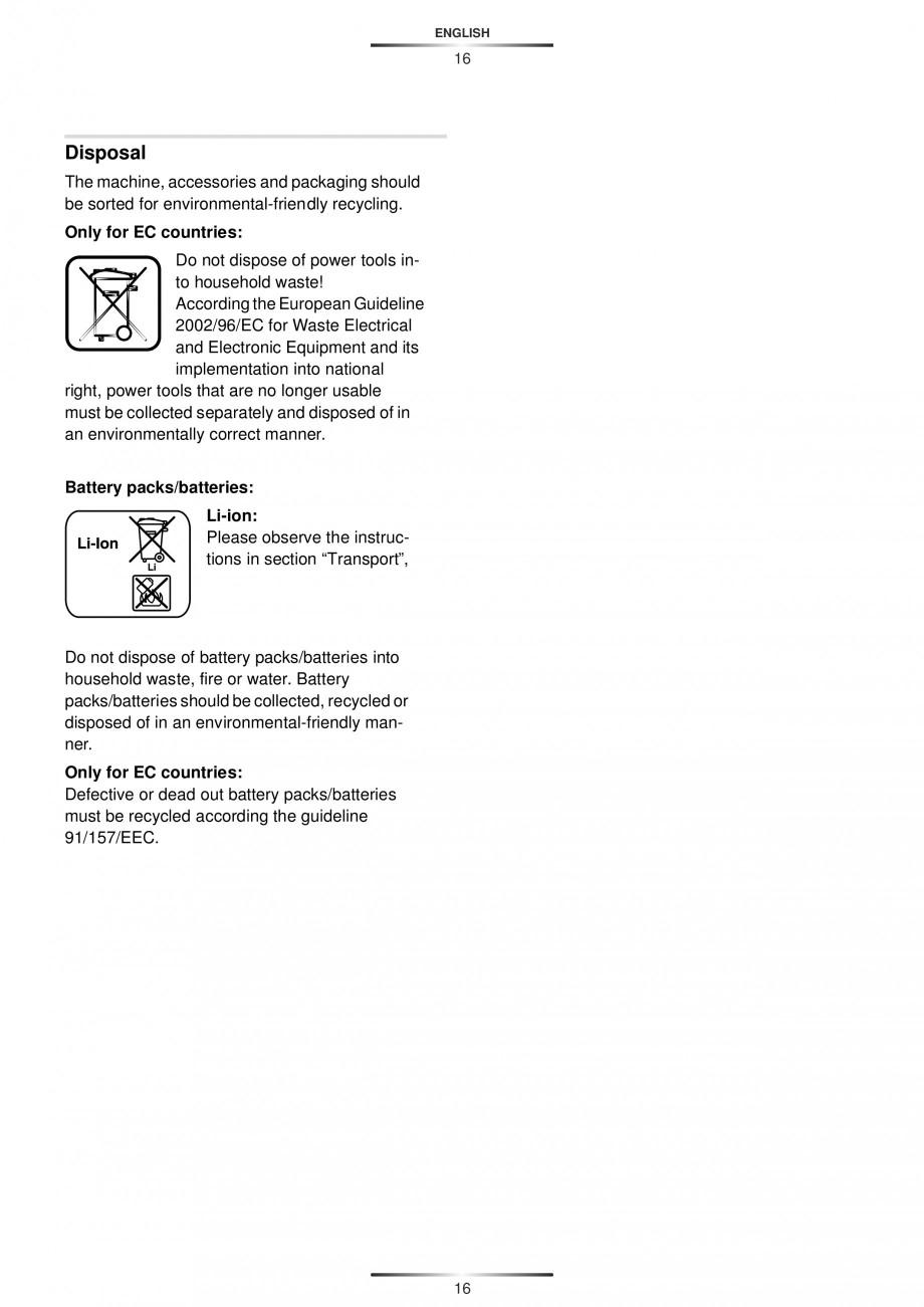 Pagina 19 - Masina de gaurit si insurubat cu acumulator 12 V 1.3 Ah STAYER BHL 112 K Instructiuni...