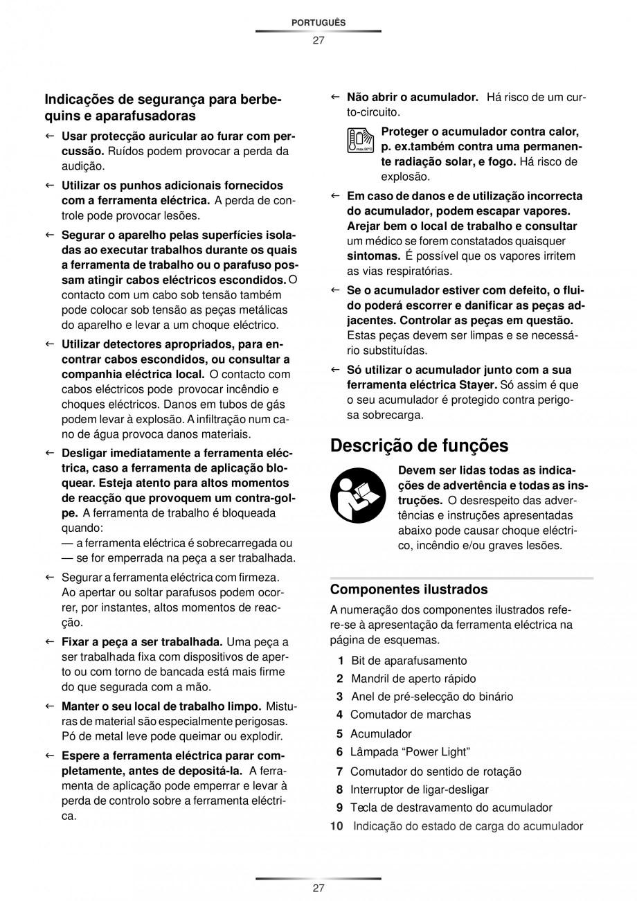 Pagina 29 - Masina de gaurit si insurubat cu acumulator 12 V 1.3 Ah STAYER BHL 112 K Instructiuni...