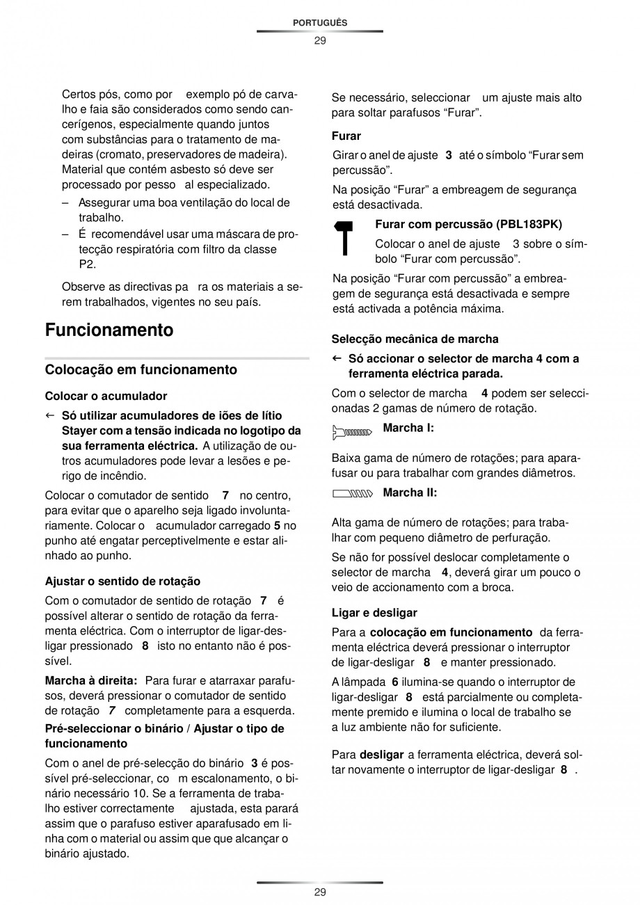 Pagina 31 - Masina de gaurit si insurubat cu acumulator 12 V 1.3 Ah STAYER BHL 112 K Instructiuni...