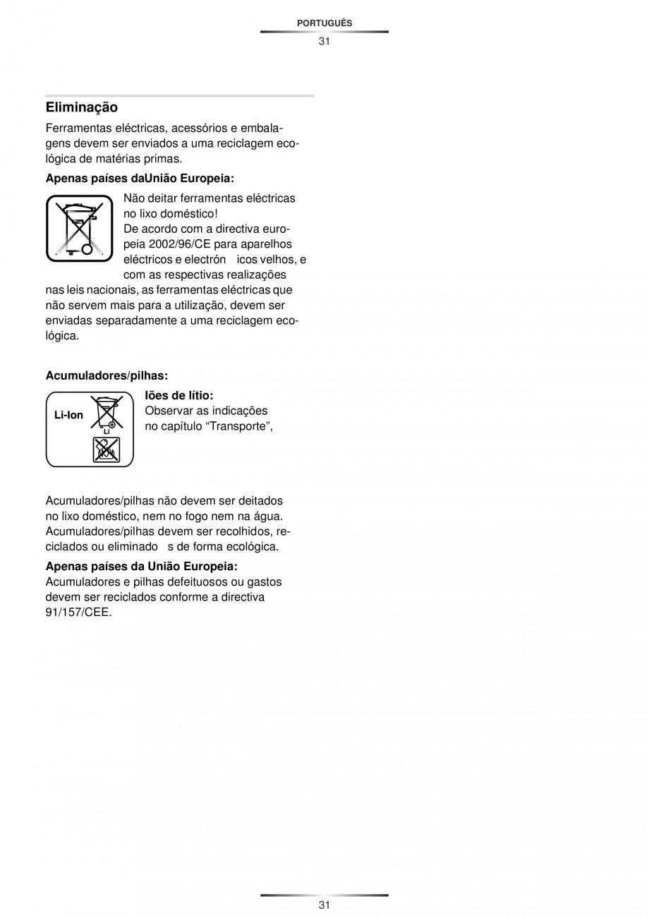 Pagina 33 - Masina de gaurit si insurubat cu acumulator 12 V 1.3 Ah STAYER BHL 112 K Instructiuni...