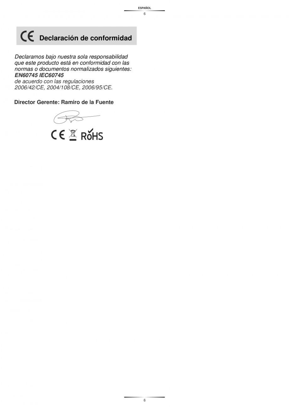 Pagina 8 - Masina de gaurit si insurubat cu acumulator NiCd 12V 1.7Ah STAYER BH 12 K Instructiuni...
