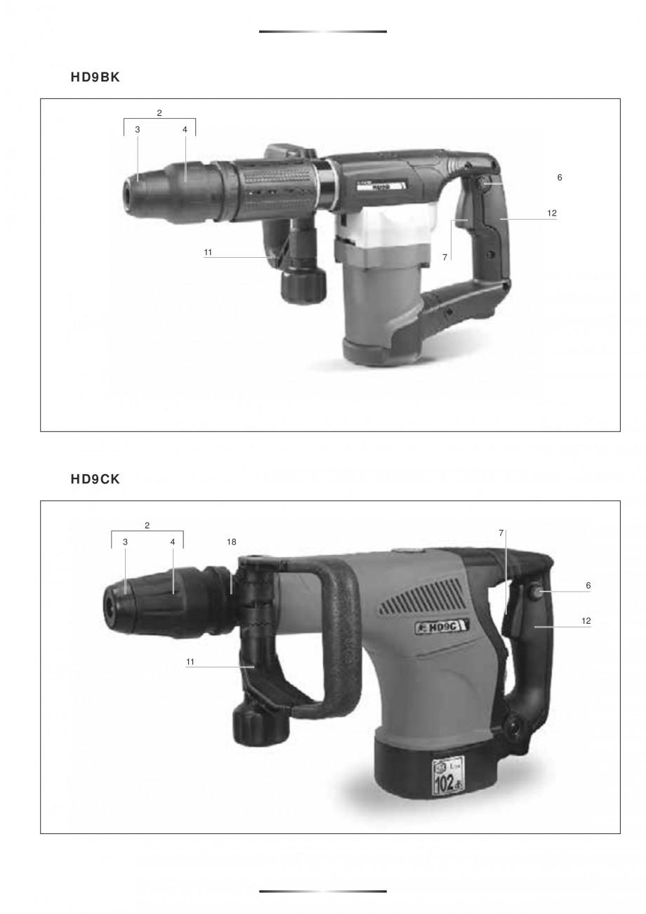 Pagina 4 - Ciocan rotopercutor 1250 W STAYER SDS-plus MH 8K Instructiuni montaj, utilizare Engleza, ...