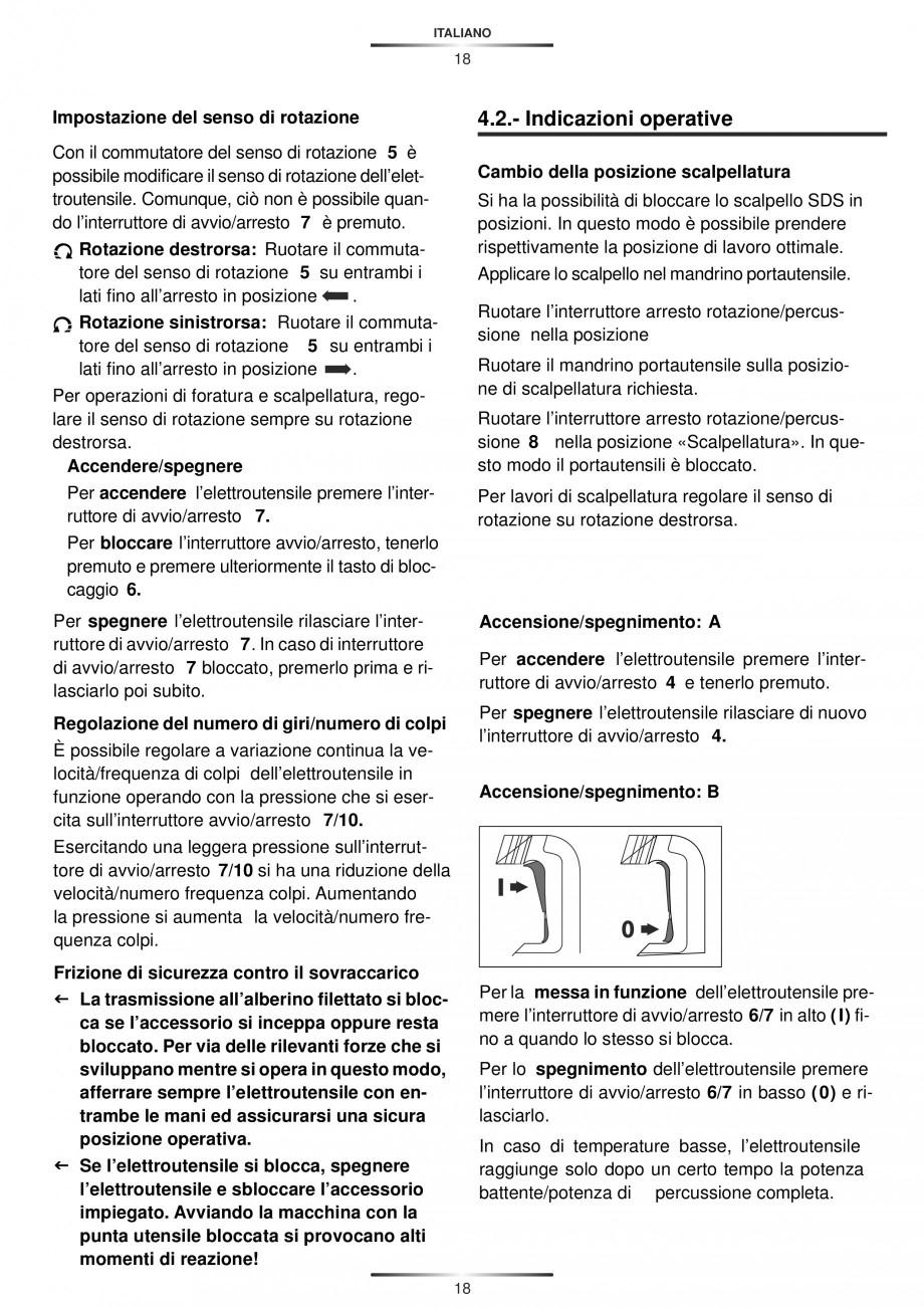 Pagina 18 - Ciocan rotopercutor 1250 W STAYER SDS-plus MH 8K Instructiuni montaj, utilizare Engleza,...