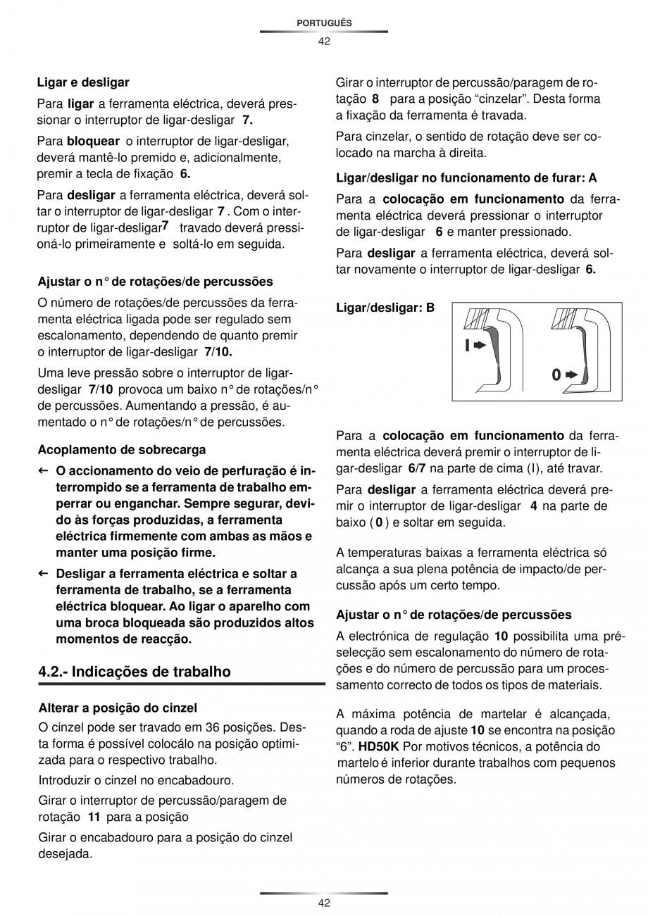 Pagina 42 - Ciocan rotopercutor 1250 W STAYER SDS-plus MH 8K Instructiuni montaj, utilizare Engleza,...