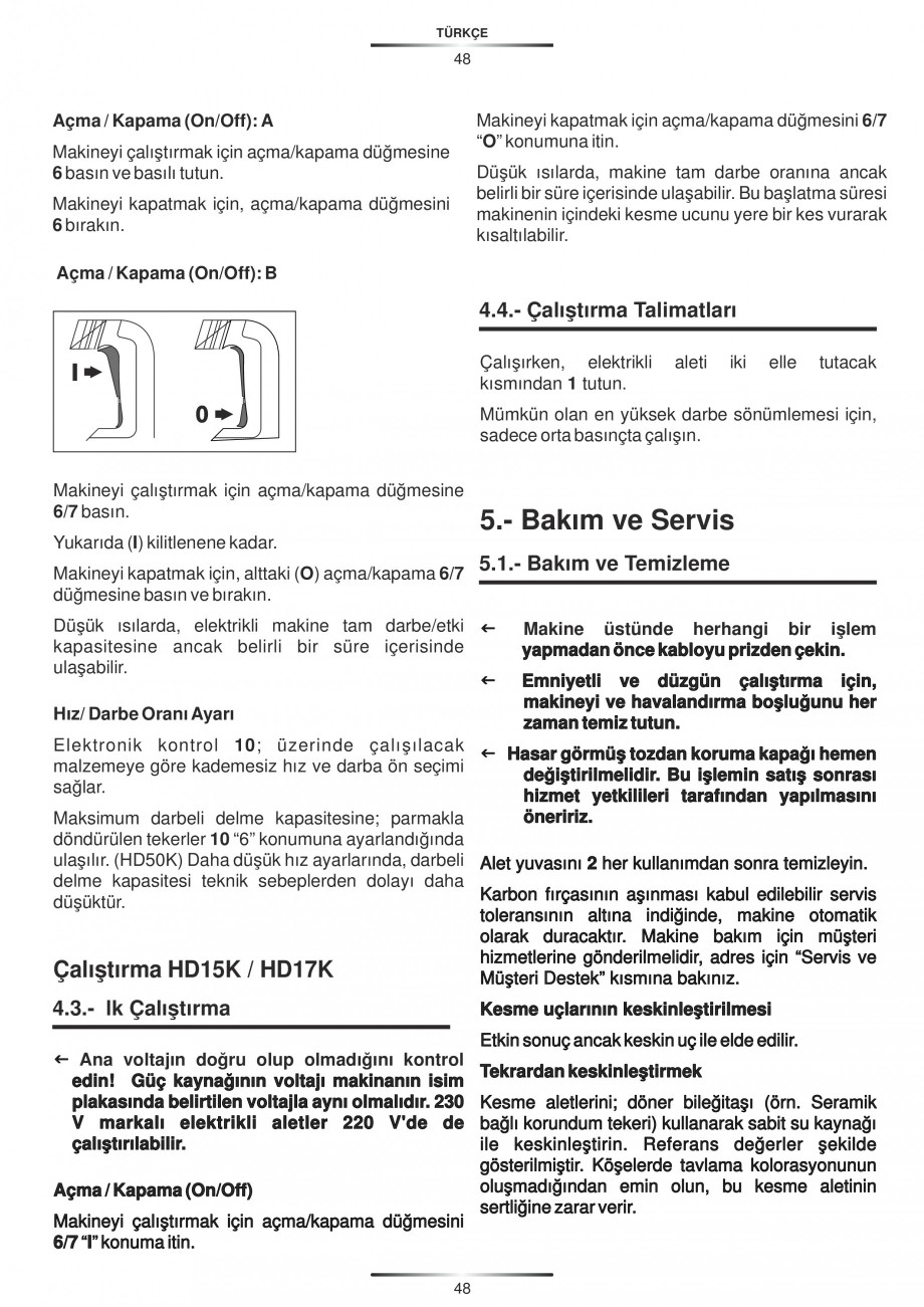 Pagina 48 - Ciocan rotopercutor 1250 W STAYER SDS-plus MH 8K Instructiuni montaj, utilizare Engleza,...