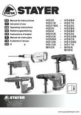 Ciocane demolatore - Manual de utilizare STAYER