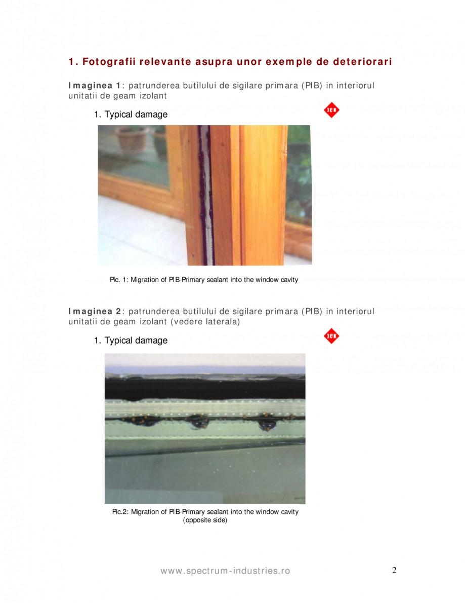 Pagina 2 - Fenomenul de migrare SPECTRUM INDUSTRIES Catalog, brosura Romana n of PIB-Primary sealant...