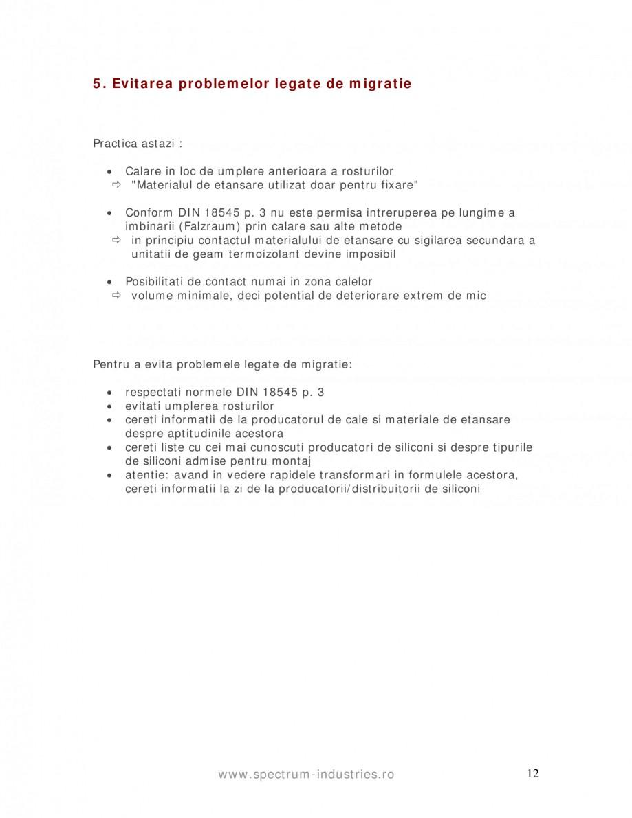Pagina 12 - Fenomenul de migrare SPECTRUM INDUSTRIES Catalog, brosura Romana H Sika GmbH Adolf Wurth...