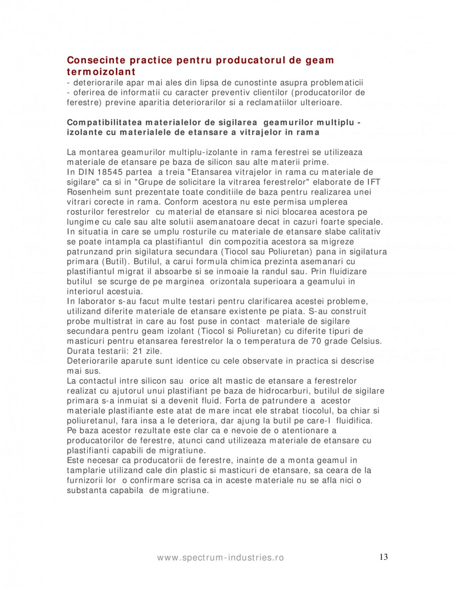 Pagina 13 - Fenomenul de migrare SPECTRUM INDUSTRIES Catalog, brosura Romana