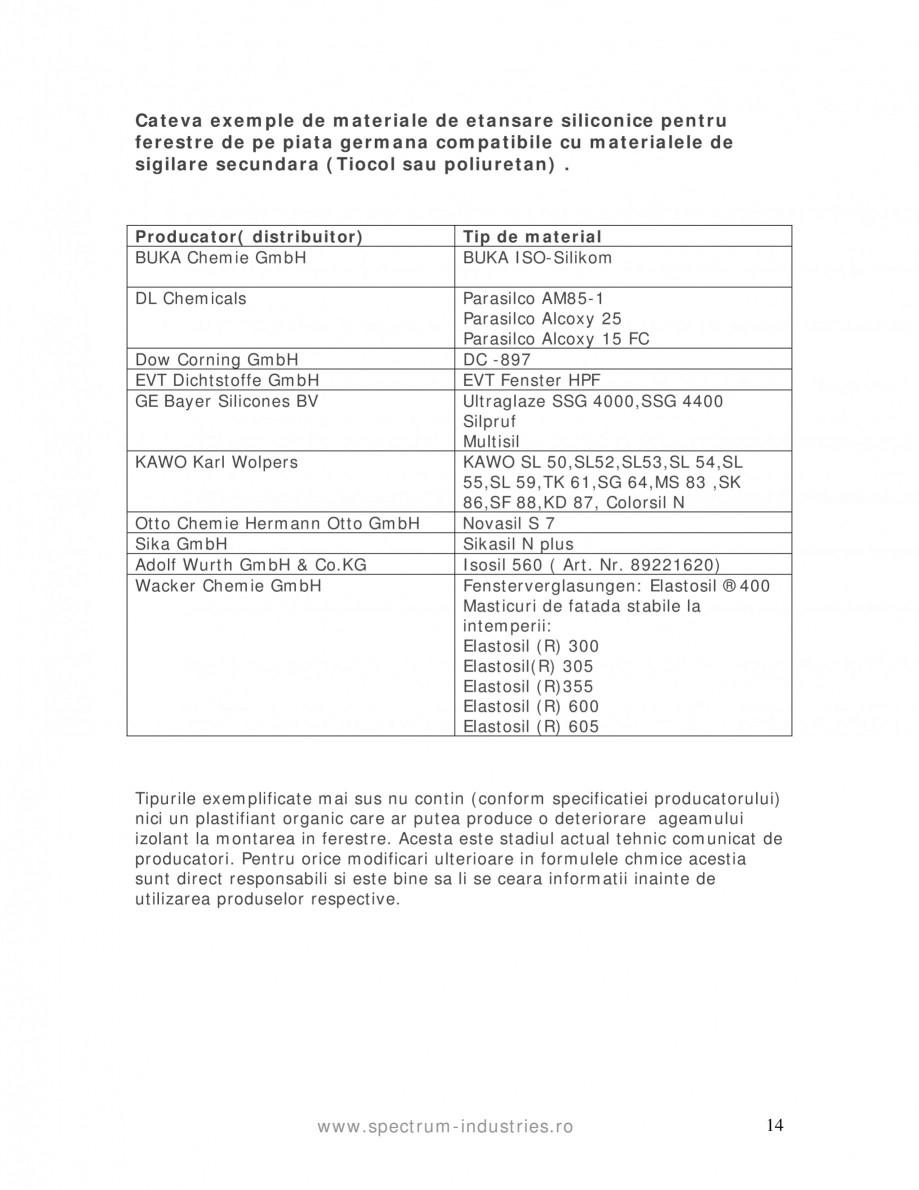 Pagina 14 - Fenomenul de migrare SPECTRUM INDUSTRIES Catalog, brosura Romana