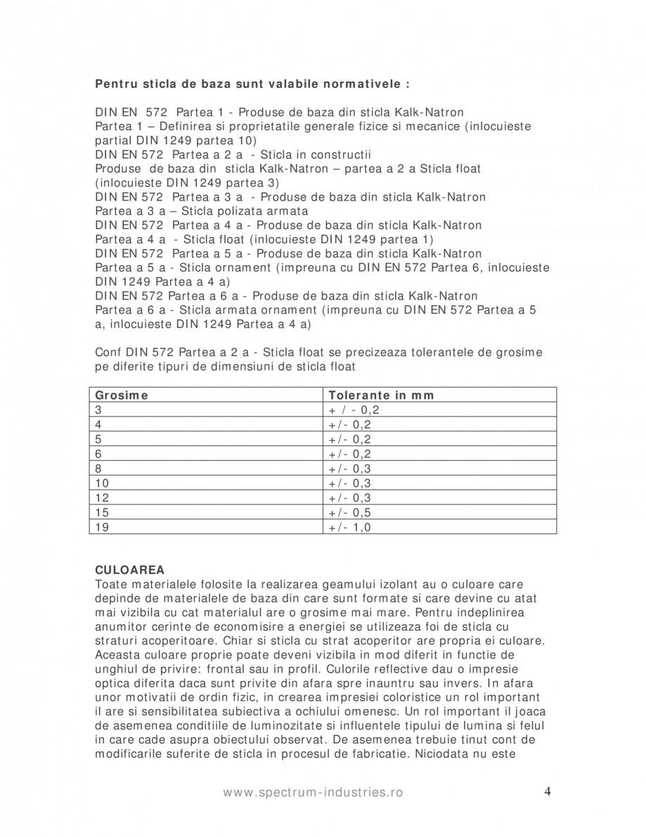 Pagina 4 - Manual de tolerante SPECTRUM INDUSTRIES Catalog, brosura Romana iorul unei suprafete cu...