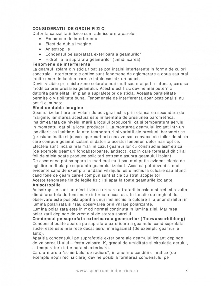 Pagina 6 - Manual de tolerante SPECTRUM INDUSTRIES Catalog, brosura Romana  19  Tolerante in mm + / ...