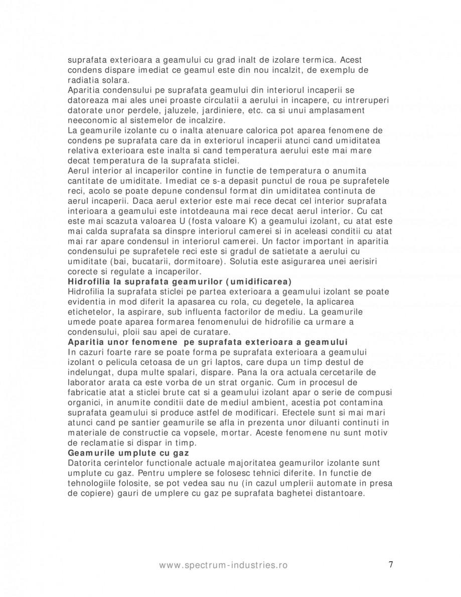 Pagina 7 - Manual de tolerante SPECTRUM INDUSTRIES Catalog, brosura Romana rvat. De asemenea trebuie...