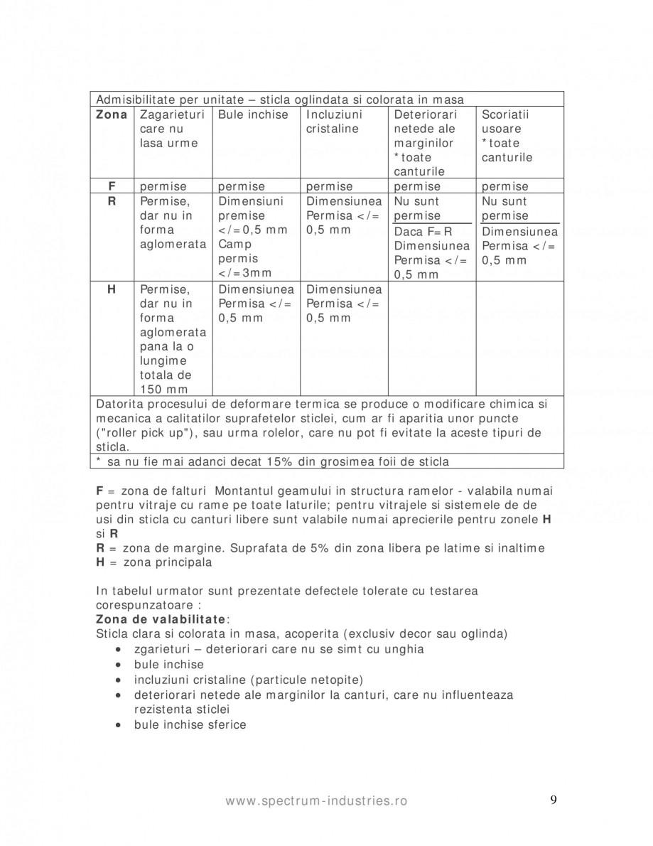 Pagina 9 - Manual de tolerante SPECTRUM INDUSTRIES Catalog, brosura Romana rise mai sus sunt si mai ...