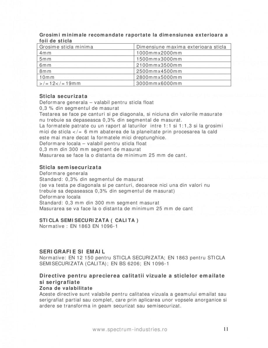 Pagina 11 - Manual de tolerante SPECTRUM INDUSTRIES Catalog, brosura Romana  ca inaltime, la alte...