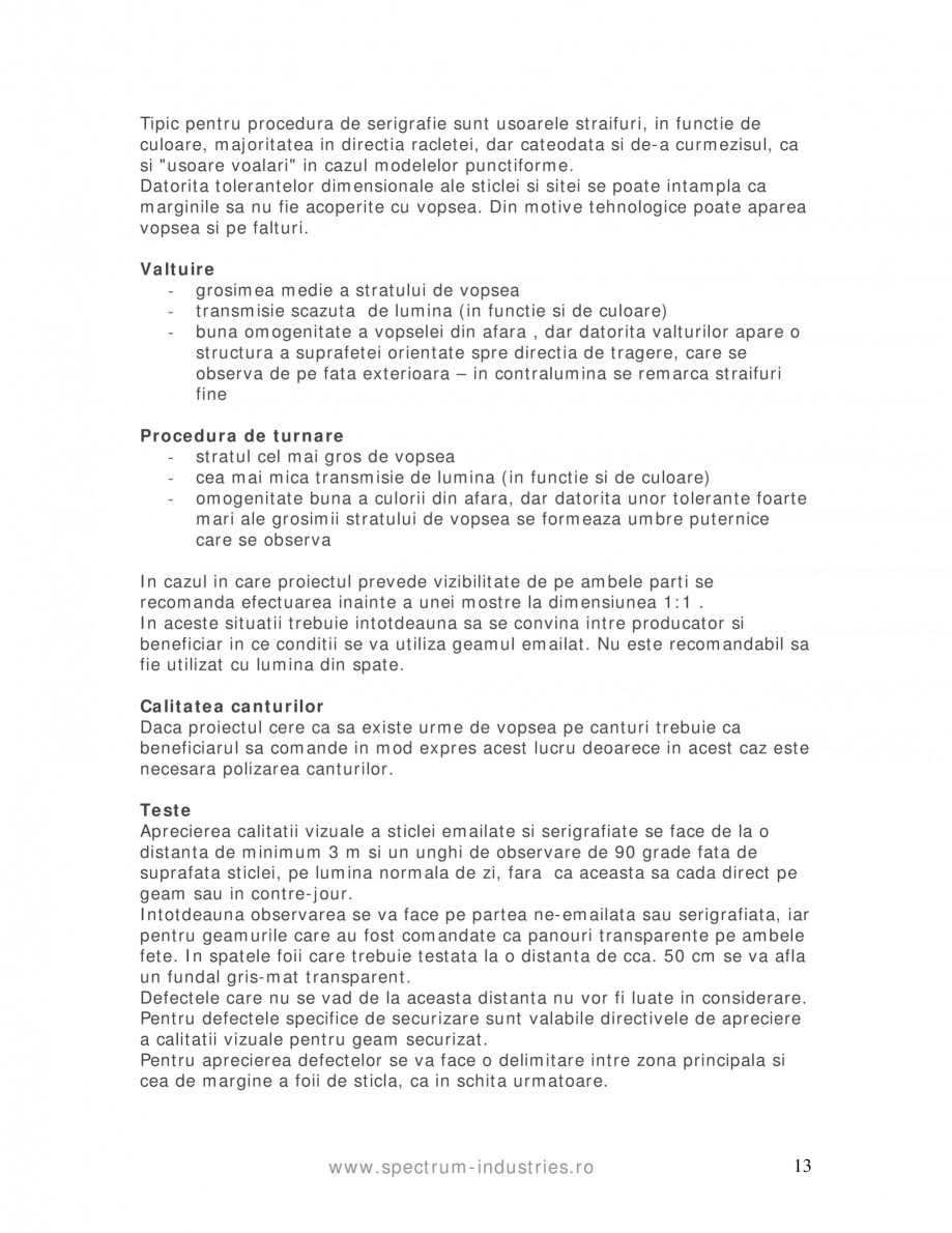 Pagina 13 - Manual de tolerante SPECTRUM INDUSTRIES Catalog, brosura Romana  de radiatia solara....