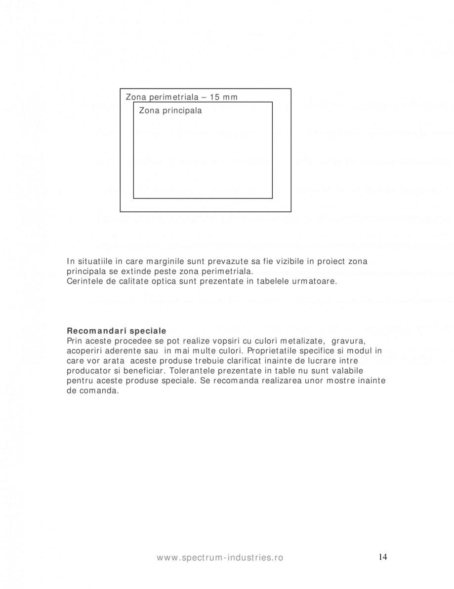 Pagina 14 - Manual de tolerante SPECTRUM INDUSTRIES Catalog, brosura Romana  cu atat este mai calda ...