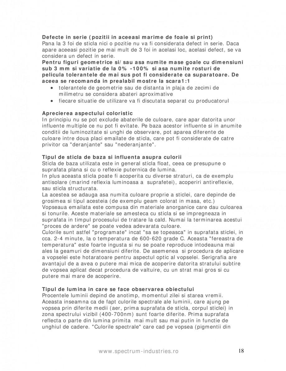 Pagina 18 - Manual de tolerante SPECTRUM INDUSTRIES Catalog, brosura Romana nturile prelucrate care ...