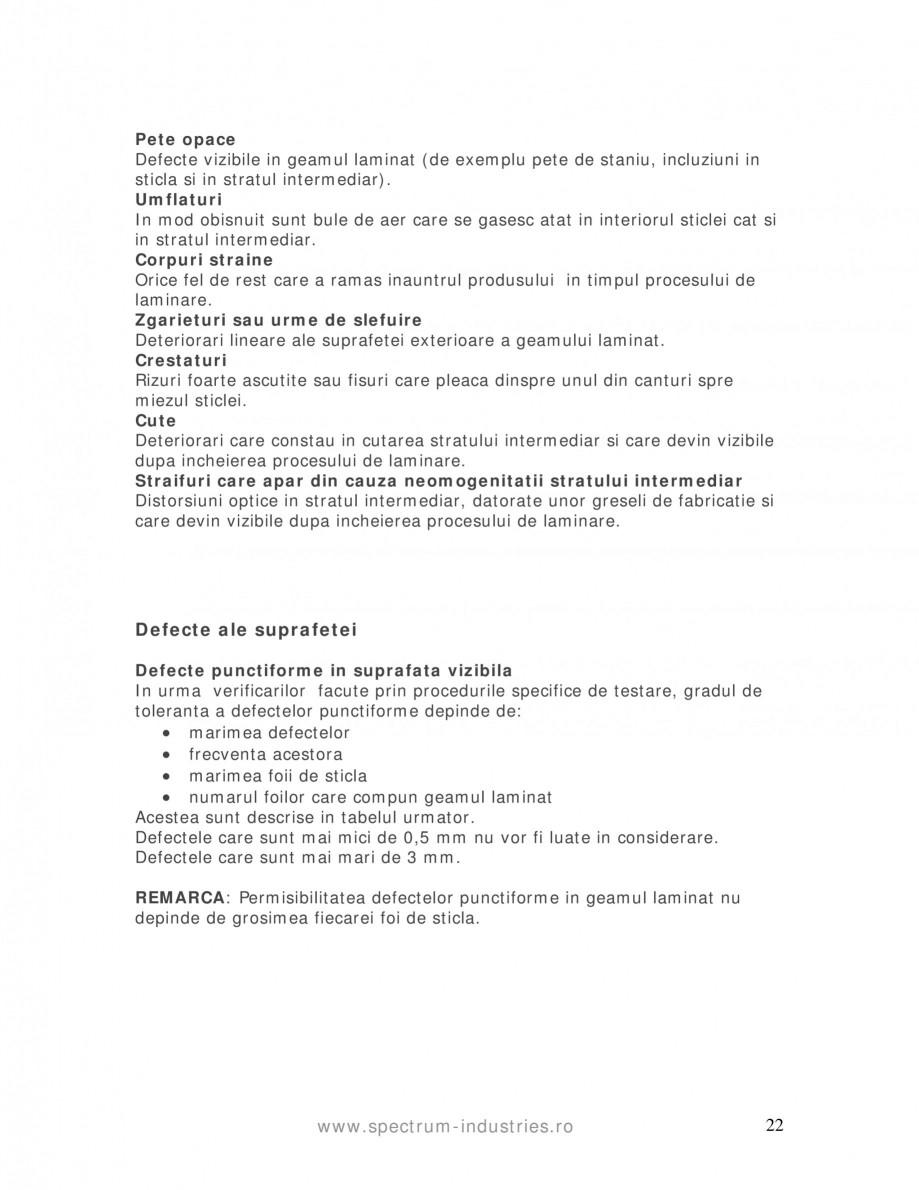 Pagina 22 - Manual de tolerante SPECTRUM INDUSTRIES Catalog, brosura Romana la Standard: 0,3% din...