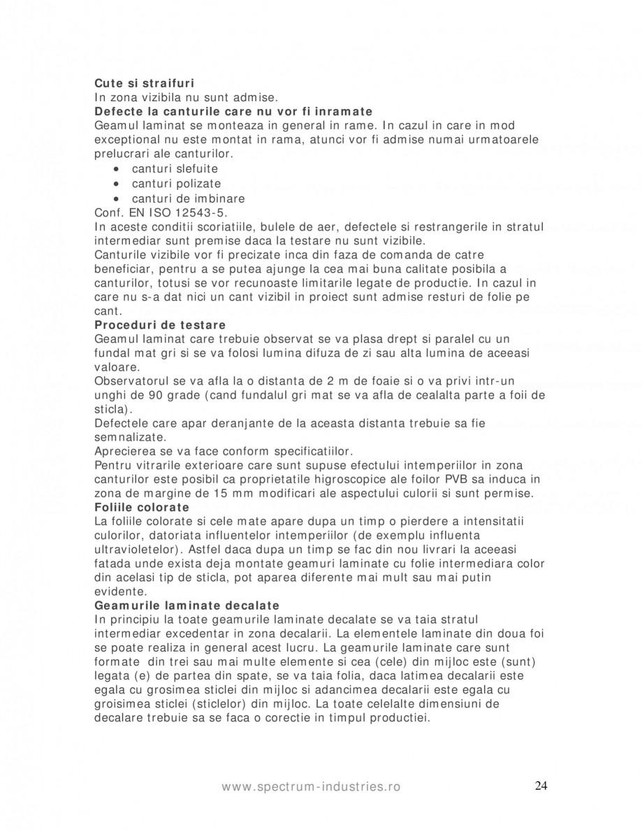 Pagina 24 - Manual de tolerante SPECTRUM INDUSTRIES Catalog, brosura Romana i influentata de propria...