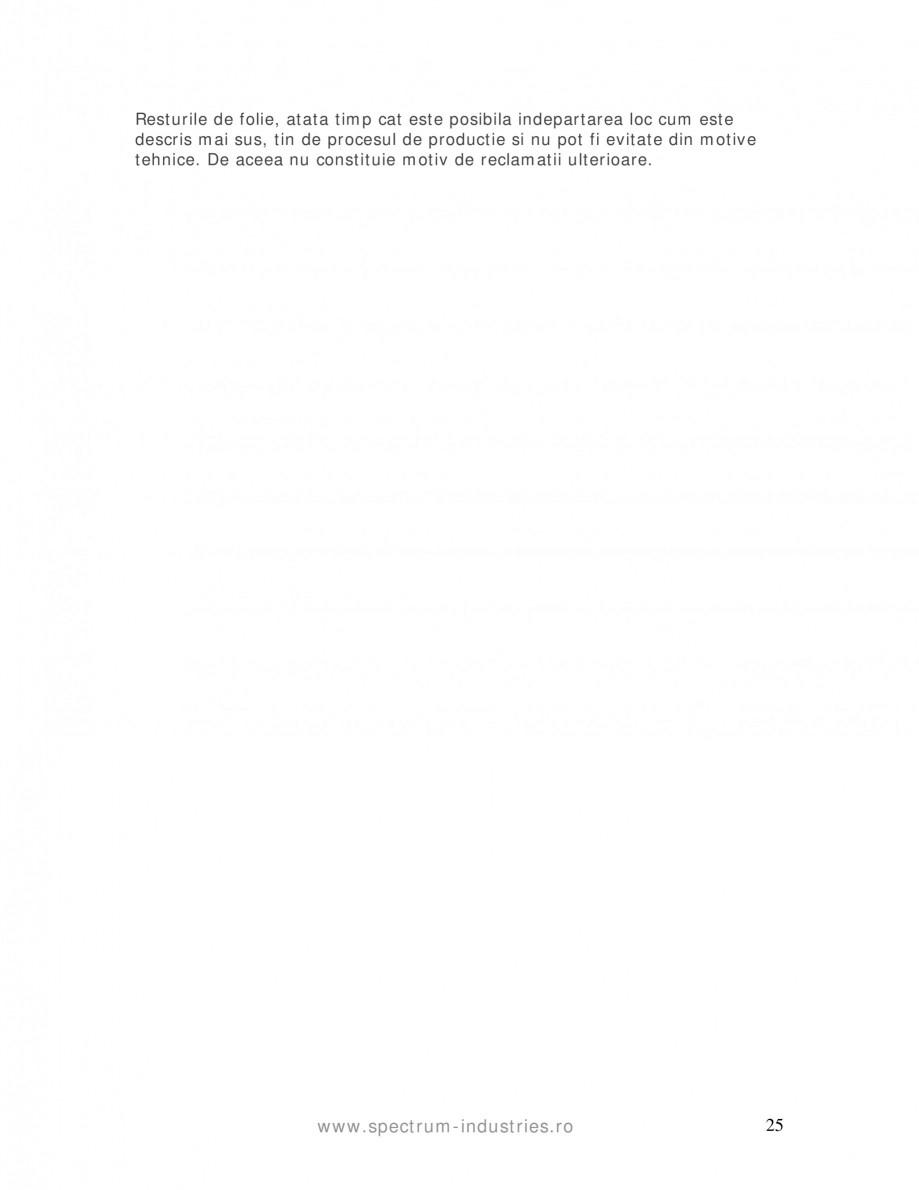Pagina 25 - Manual de tolerante SPECTRUM INDUSTRIES Catalog, brosura Romana care a vopselei,...