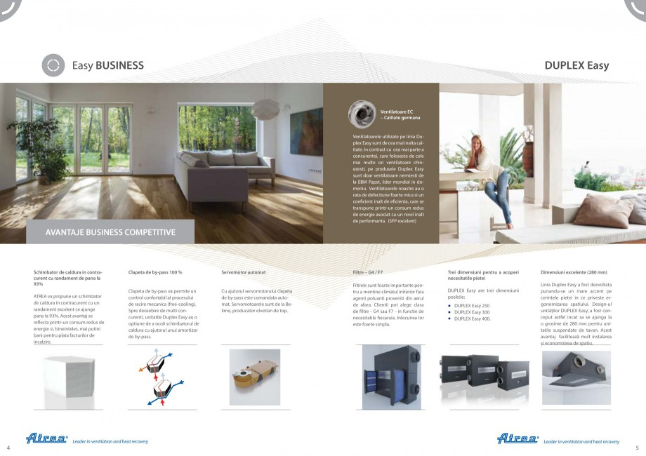 Pagina 3 - Unitate de ventilatie cu recuperare de caldura ATREA DUPLEX EASY Catalog, brosura Romana ...
