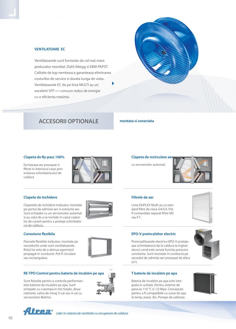 Pagina 10 - Unitate de ventilatie ATREA DUPLEX MULTI-N Rooftop Catalog, brosura Romana cesorii ...