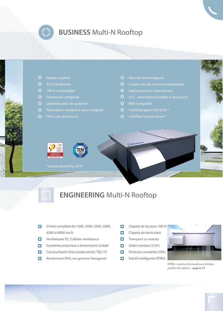 Pagina 3 - Unitate de ventilatie ATREA DUPLEX MULTI-N Rooftop Catalog, brosura Romana 0, 5000, ...