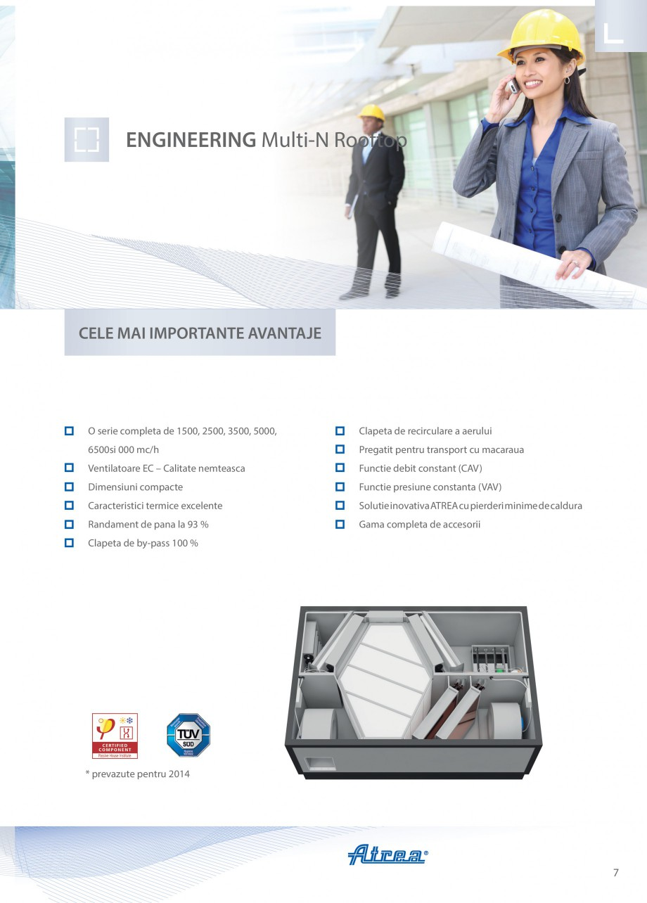 Pagina 7 - Unitate de ventilatie ATREA DUPLEX MULTI-N Rooftop Catalog, brosura Romana e de...