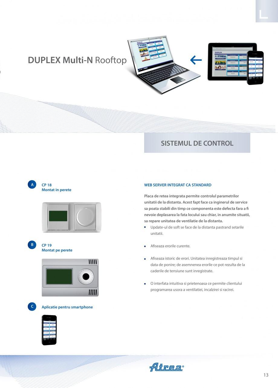 Pagina 13 - Unitate de ventilatie ATREA DUPLEX MULTI-N Rooftop Catalog, brosura Romana  retea ne...