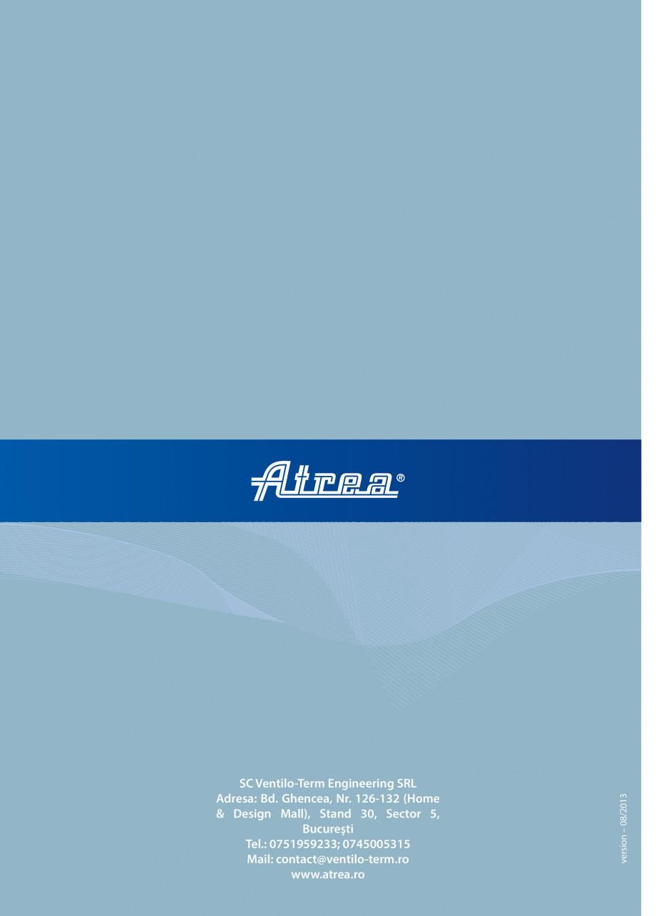 Pagina 16 - Unitate de ventilatie ATREA DUPLEX MULTI-N Rooftop Catalog, brosura Romana rat in...