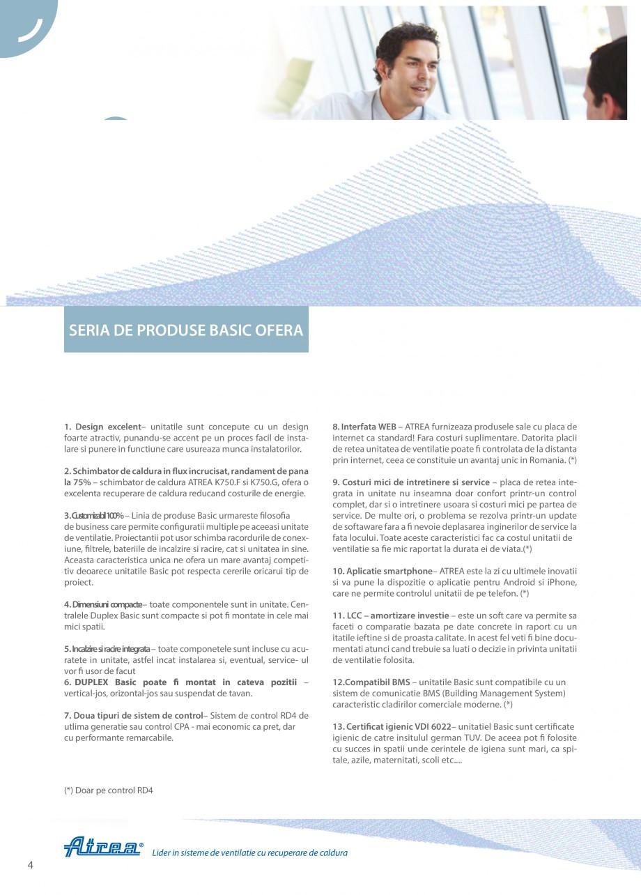 Pagina 4 - Unitate de ventilatie ATREA DUPLEX BASIC Catalog, brosura Romana de energie. 3....